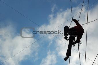 a man-climber
