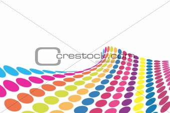 3D halftone colorful retro dots