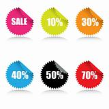 Glossy sale tags with discount