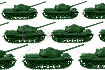 Toy Army tanks