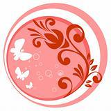 pink vegetative pattern