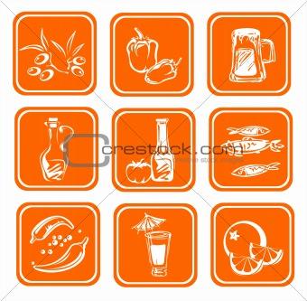 stylized food symbols