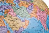Globe focusing on Middle east