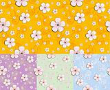 floral seamless pattern / vector background / sakura's flower
