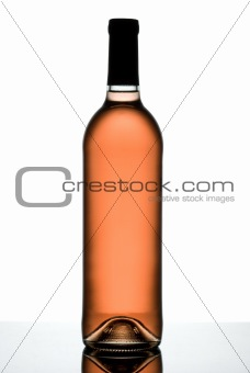 Rose wine bottle.