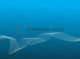 abstract background of lined art on a blue background