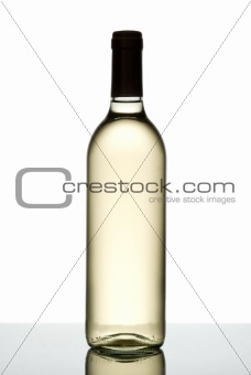 Bottle of white wine.