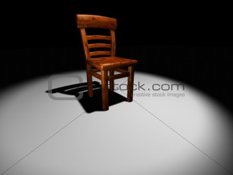 Chair on stage 2