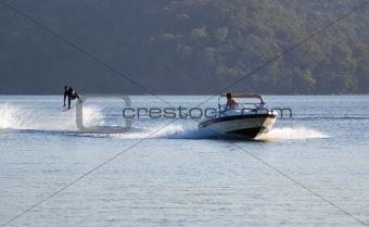 waterki jump stunt speed boat