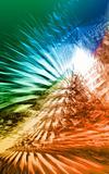 Pyramidal flare, 3D rendered fractal
