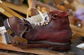 Old ski shoe