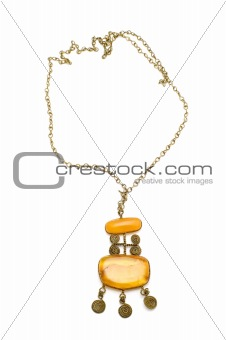 beads with amber on white