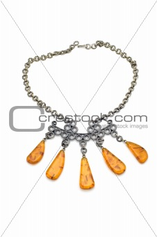 beads with amber