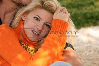 Blonde young woman