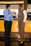 Men at martini bar.
