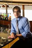 Man with martini.