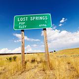 Wyoming road sign.
