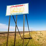 South Dakota road sign.