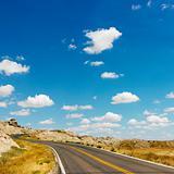 Badlands scenic drive.