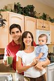 Family kitchen portrait.