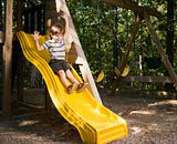 Boy on slide.