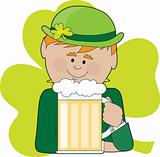 Leprechaun and Beer