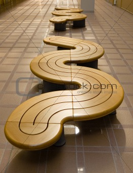 Image 654352: row of modern benches from Crestock Stock Photos