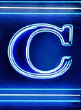 The letter &quot;C&quot; in neon
