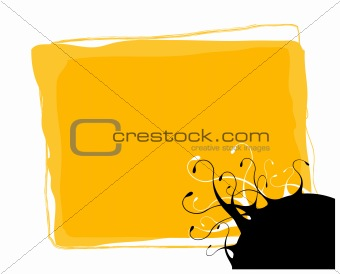 Abstract illustration with tentacles and place for text. Vector