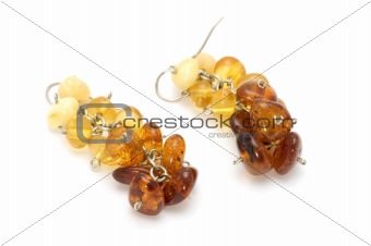 amber ear ring