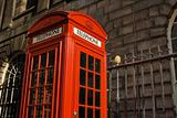 Classic British red telephone box
