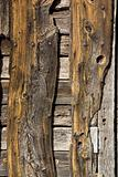 Aged wooden door