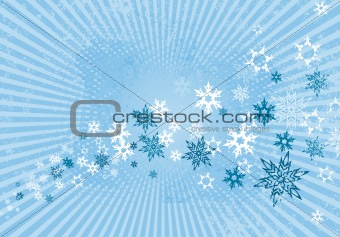Abstract winter illustration. Vector