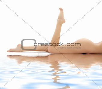 long legs of relaxed lady in water #2