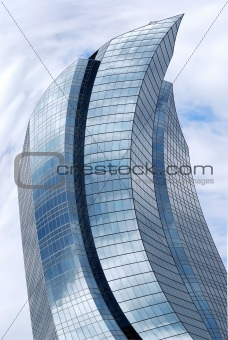 Distorted skyscraper