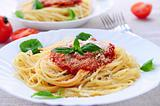 Pasta and tomato sauce