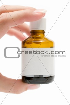 Holding a Medicine Bottle