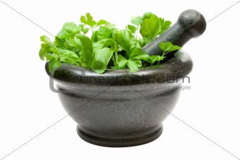 Crushing Fresh Herbs