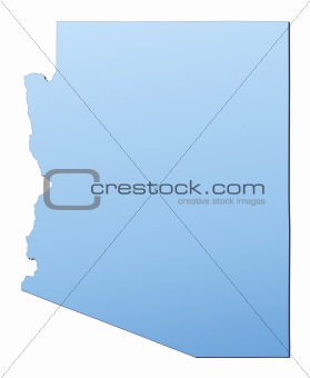 Arizona(USA) map