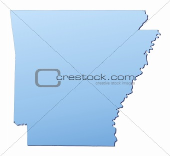 Arkansas(USA) map