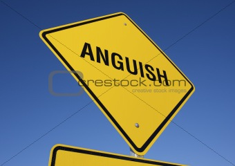Anguish road sign.