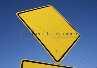 Blank road sign.