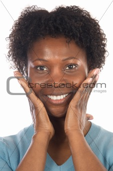 African American Woman Smilling