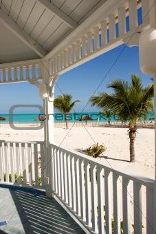 beach from gazebo