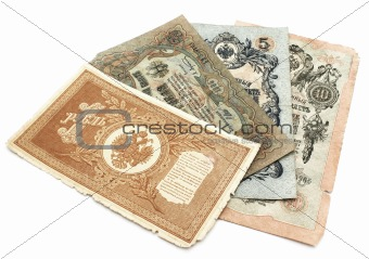Old banknoty.