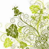 Decorative floral background, vector