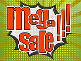 Mega sale comic speech bubble