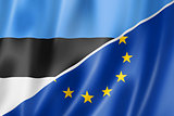 Estonia and Europe flag
