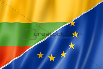 Lithuania and Europe flag