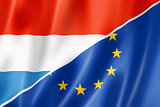 Luxembourg and Europe flag